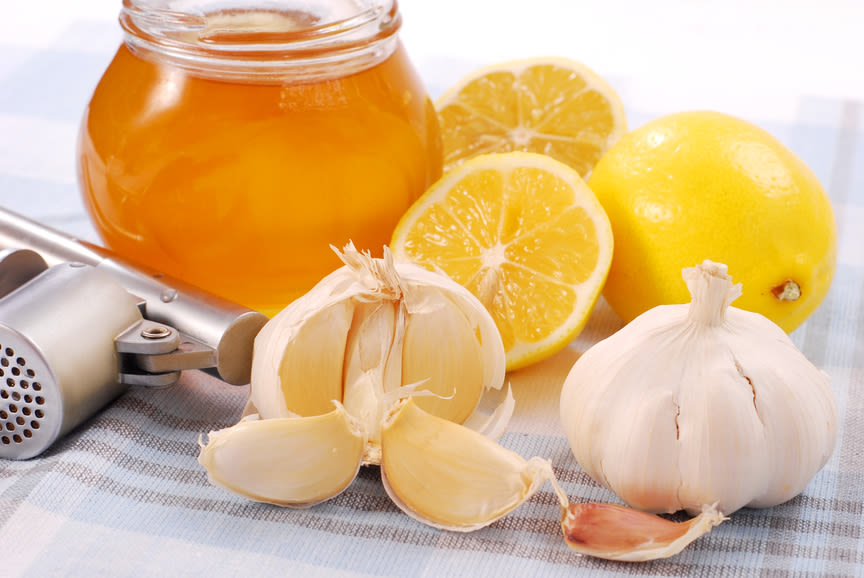 honey, garlic and lemon